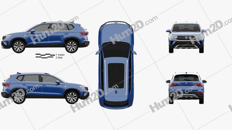 Volkswagen Taos 2022 Clipart Image
