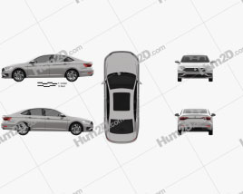 Volkswagen Sagitar 2019 car clipart
