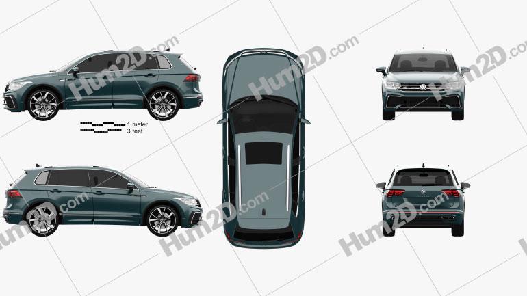 Volkswagen Tiguan R-Line 2020 car clipart