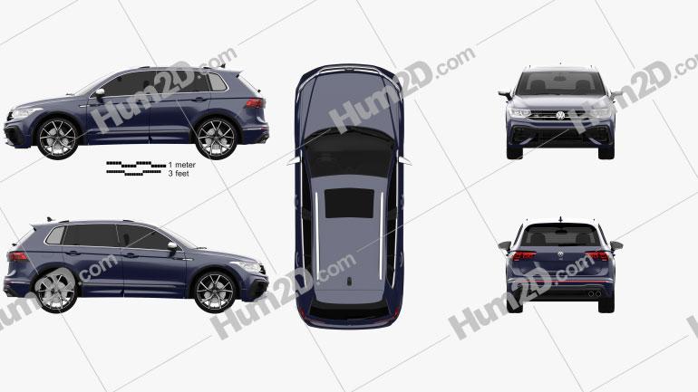 Volkswagen Tiguan 2021 car clipart