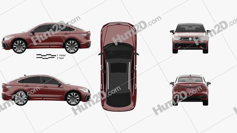 Volkswagen Tiguan X R-line CN-spec 2020 car clipart