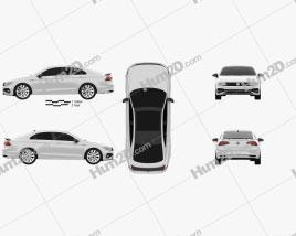 Volkswagen Lamando 2021 car clipart