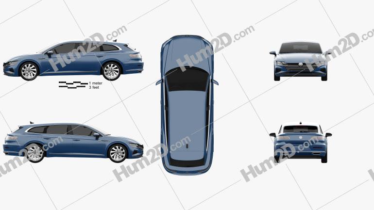 Volkswagen Arteon Shooting Brake Elegance 2020 car clipart