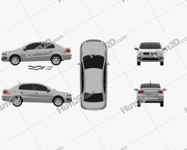 Volkswagen Voyage 2018 car clipart