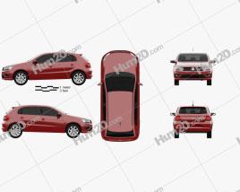 Volkswagen Gol hatchback 2018 car clipart
