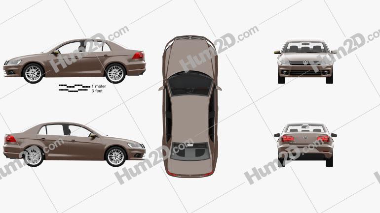 Volkswagen Bora with HQ interior 2012 Imagem Clipart