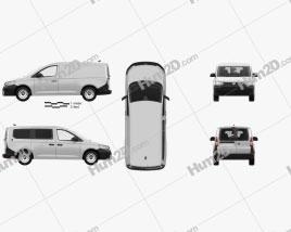 Volkswagen Caddy Maxi Panel Van with HQ interior 2020 clipart
