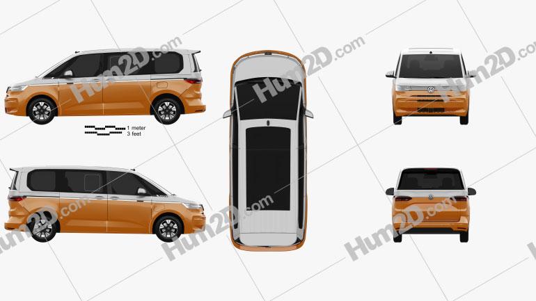 Volkswagen Transporter Multivan eHybrid 2021 clipart