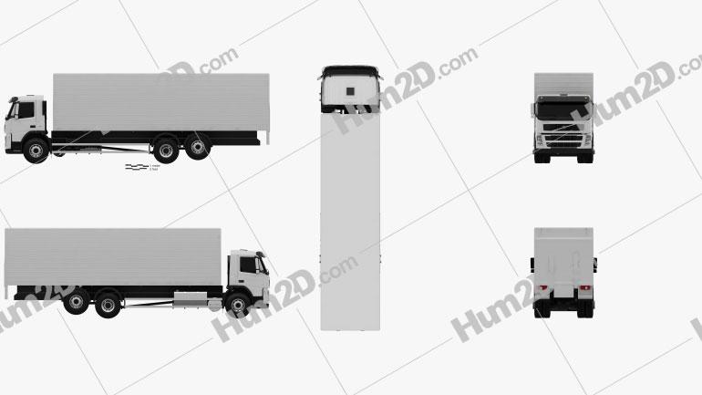 Volvo FM Truck 6×2 Delivery 2010 Clipart Image