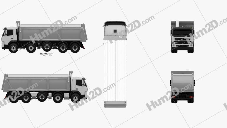 Volvo Truck 10×4 Dumper 2010 clipart