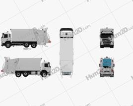 Volvo Truck 6×2 Garbage 2010 clipart