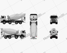 Volvo Truck 8×4 Mixer 2010 clipart