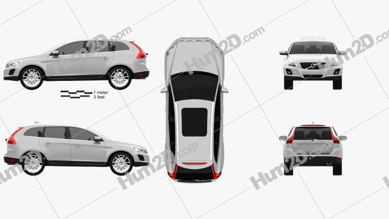 Volvo XC60 2009 Clipart Image