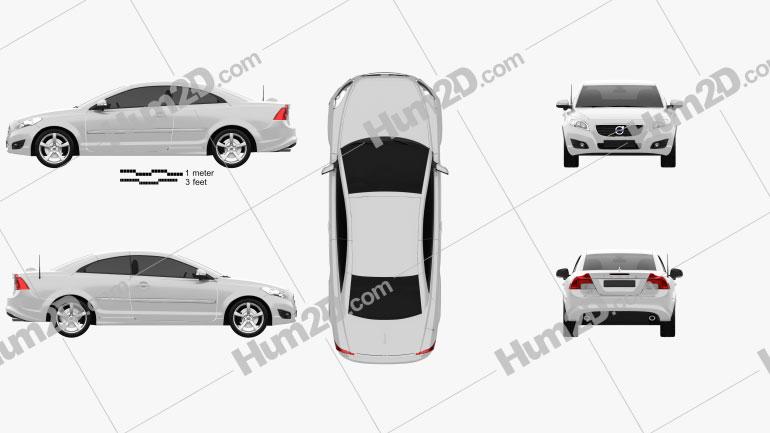 Volvo C70 2011 Clipart Image