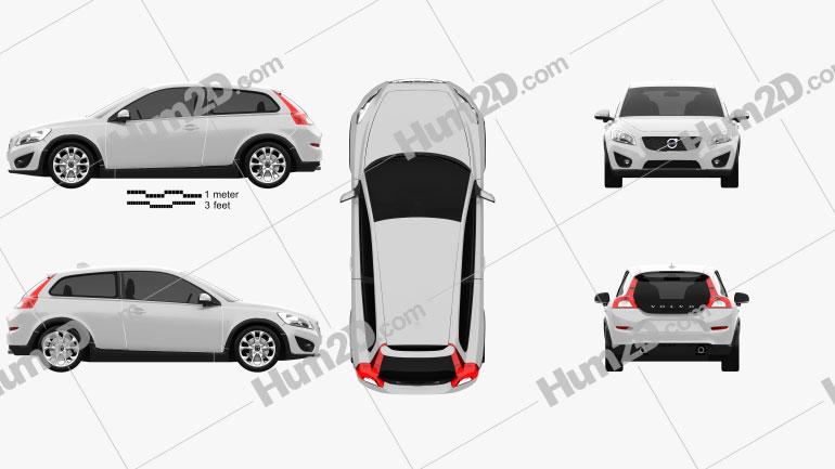 Volvo C30 2011 Clipart Image