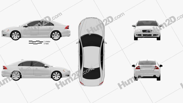 Volvo S80 2011 car clipart