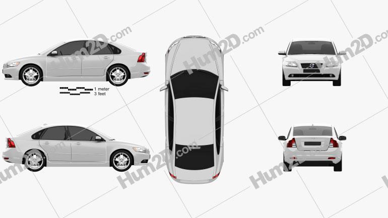 Volvo S40 2011 car clipart