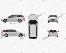 Volvo V50 Classic 2011 car clipart
