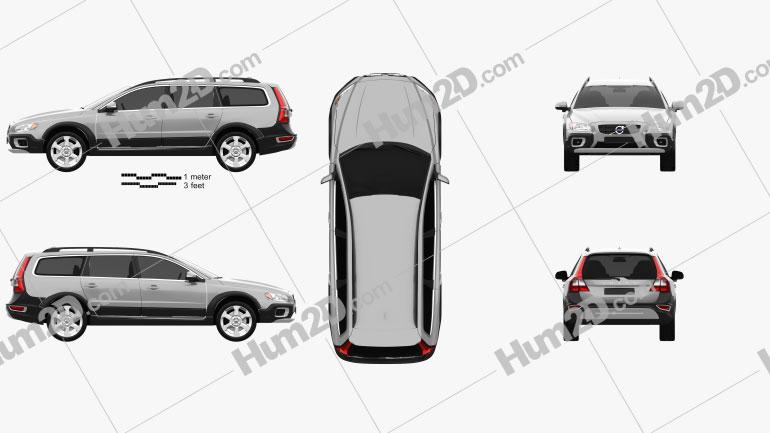 Volvo XC70 2011 car clipart