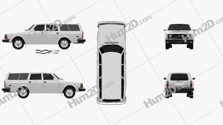 Volvo 245 wagon 1975 car clipart