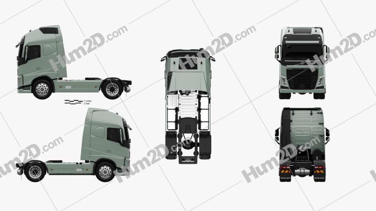 Volvo FH Tractor Truck 2012 clipart