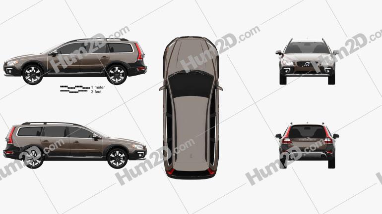 Volvo XC70 2013 car clipart