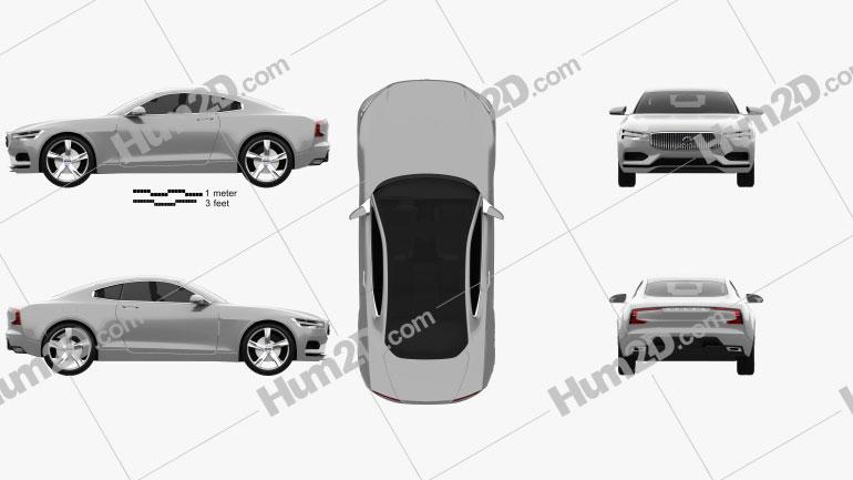 Volvo XC Concept Coupe 2013 car clipart