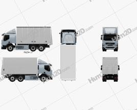 Volvo FE Hybrid Box Truck 2011 clipart