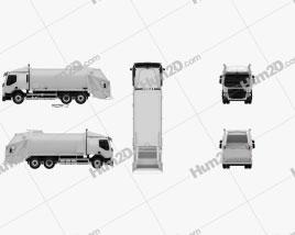 Volvo FE Rolloffcon Garbage Truck 2013 clipart