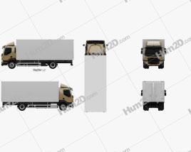Volvo FL Box Truck 2013 clipart