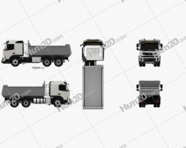 Volvo FMX Tipper Truck 2010 Clipart