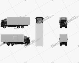 Volvo VM Box Truck 2003 clipart