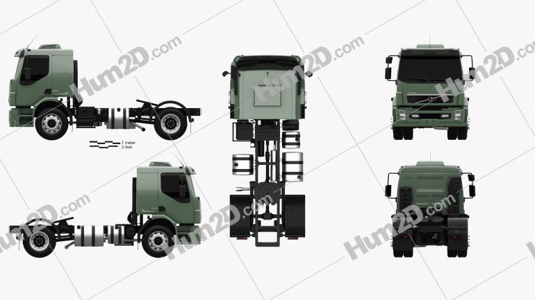 Volvo VM Tractor Truck 2012 clipart