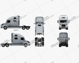 Volvo VNL Tractor Truck 2002 clipart