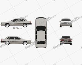 Volvo 850 sedan 1992 car clipart