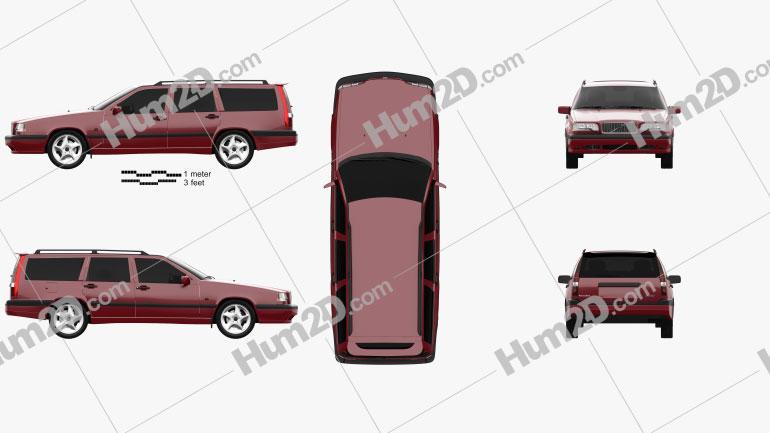 Volvo 850 wagon 1992 car clipart