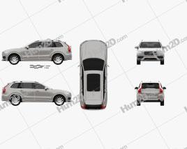 Volvo XC90 T5 2015 car clipart