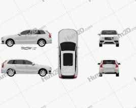 Volvo XC90 T8 2015 car clipart