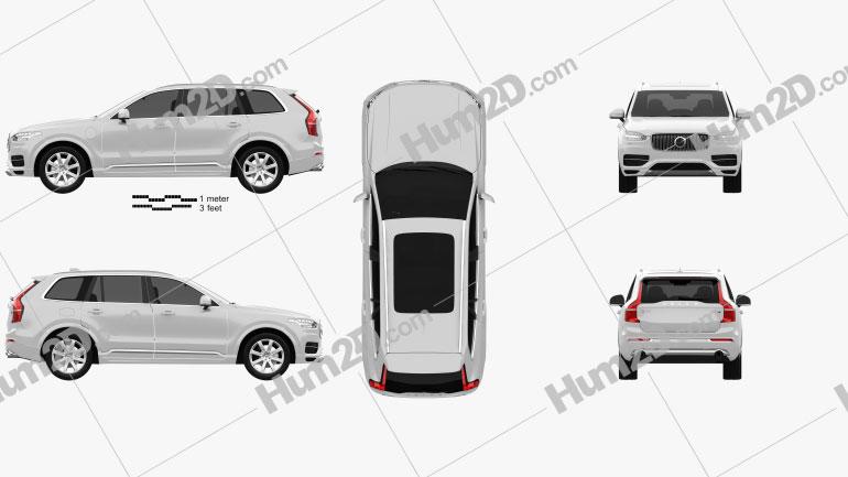 Volvo XC90 T8 2015 Clipart Image