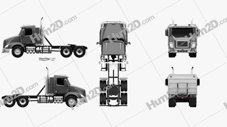Volvo VNX 300 Tractor Truck 2013 clipart