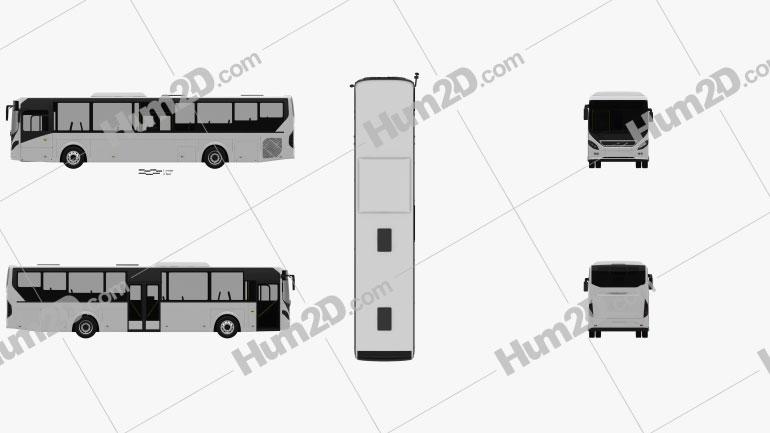Volvo 8900 Bus 2010 clipart