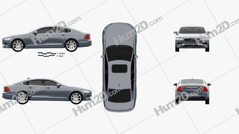 Volvo S90 2017 car clipart