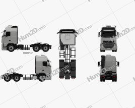 Volvo FH Tractor Truck 3-axle 2008 clipart