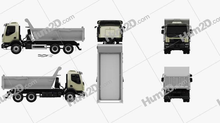 Volvo VM 330 Tipper Truck 3-axle 2014 clipart