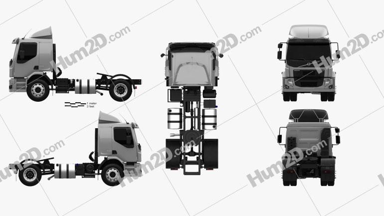 Volvo VM 330 Tractor Truck 3-axle 2014 clipart