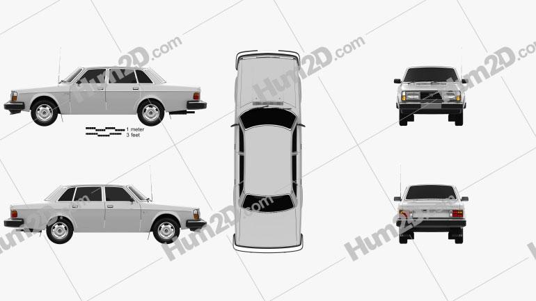 Volvo 244 1979 car clipart