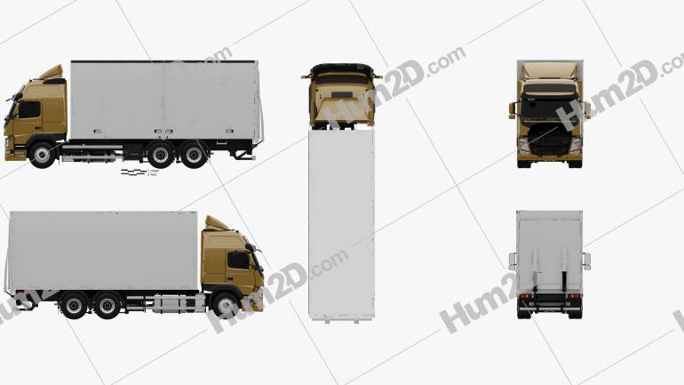Volvo FM 370 Box Truck 2013 clipart