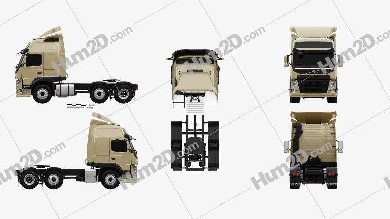 Volvo FM 460 Tractor Truck 2013 clipart