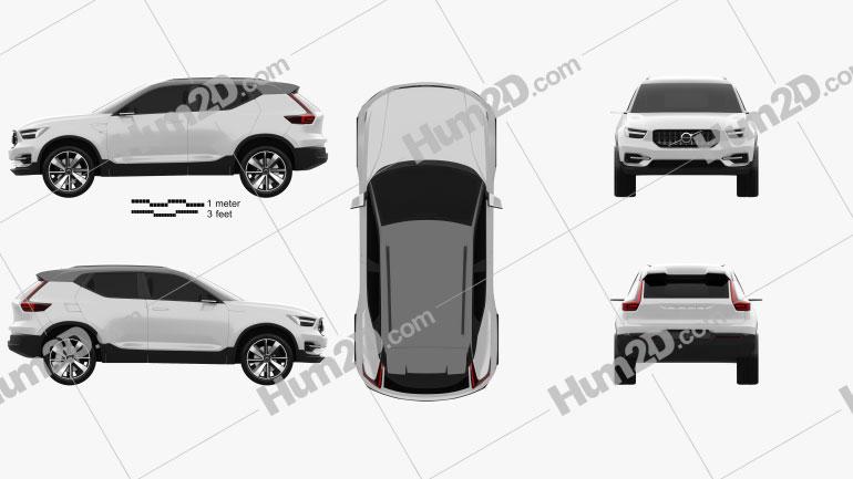 Volvo 40.1 2016 car clipart