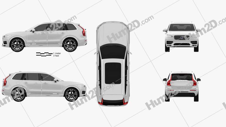 Volvo XC90 Heico 2016 car clipart